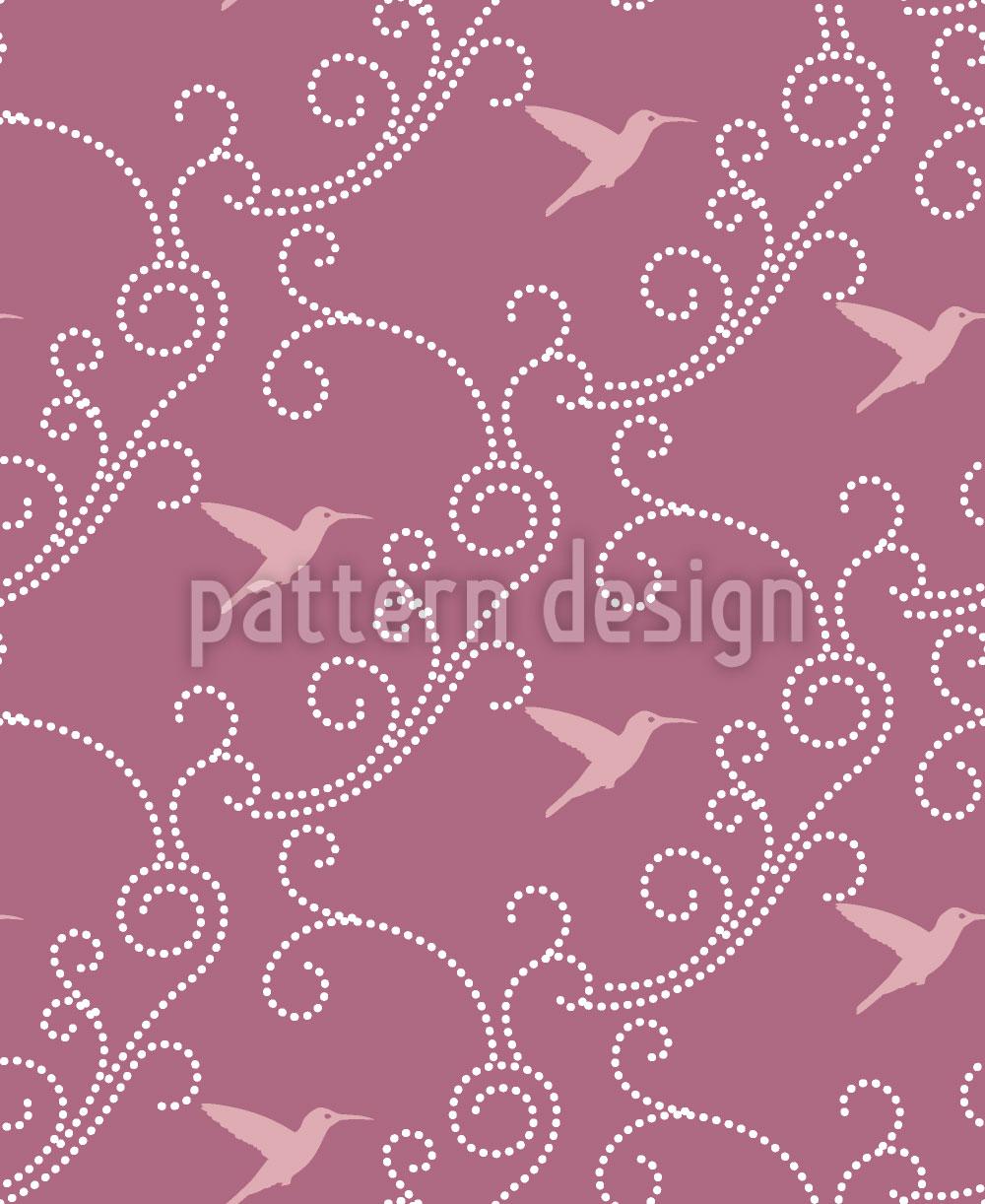 Designtapete Lavendel-Kolibris