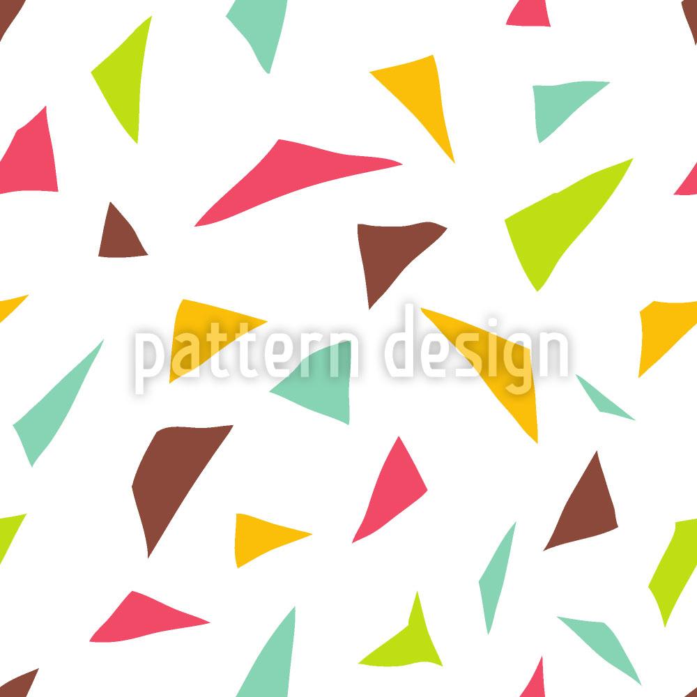 Designtapete Dreieckige Confetti