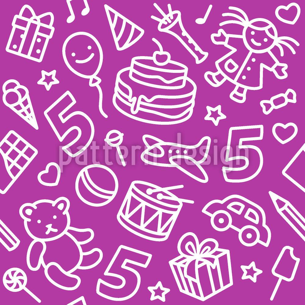 Designtapete Kinder Geburtstag