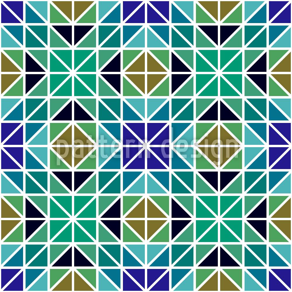 Designtapete Geometrische Teile