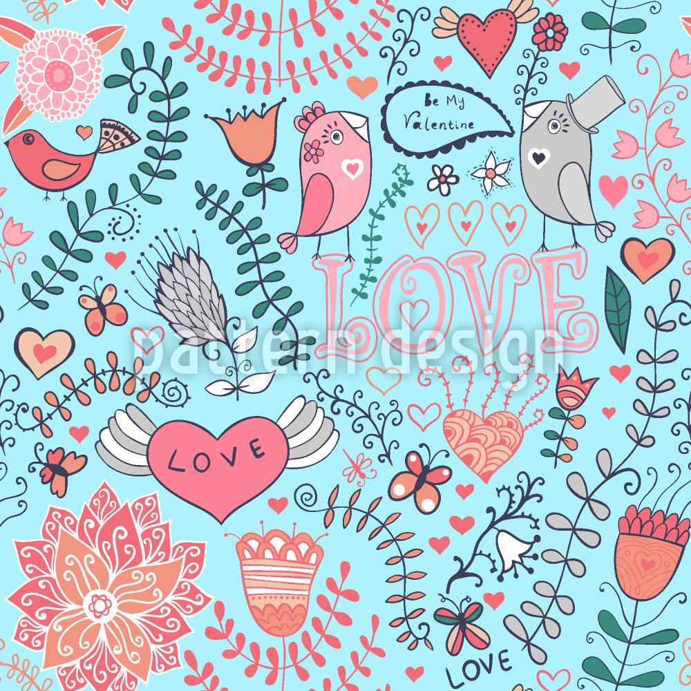 Designtapete Mein Valentinsvögelchen