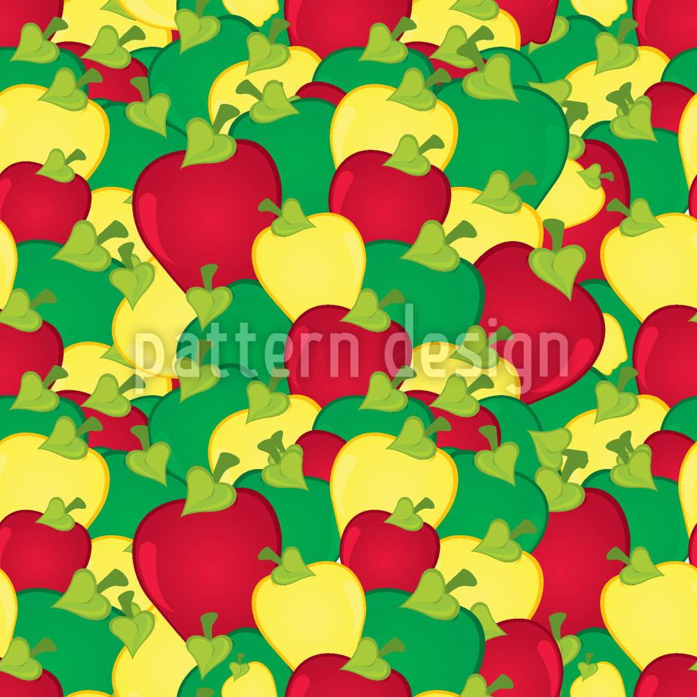 Designtapete Apfelernte