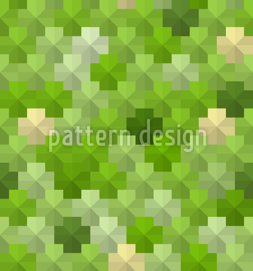 Designtapete Pentagon Pixel Im Gras