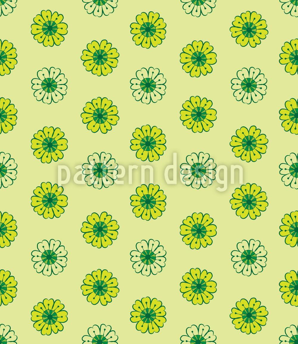 Designtapete Limetten Blumen