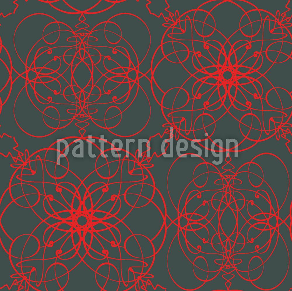 Designtapete Florale Zeichen