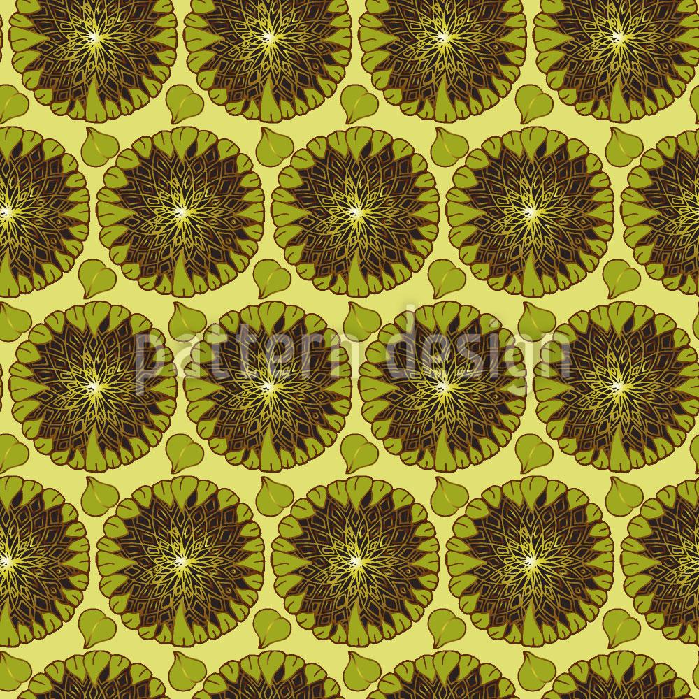 Designtapete Überreife Sonnenblumen