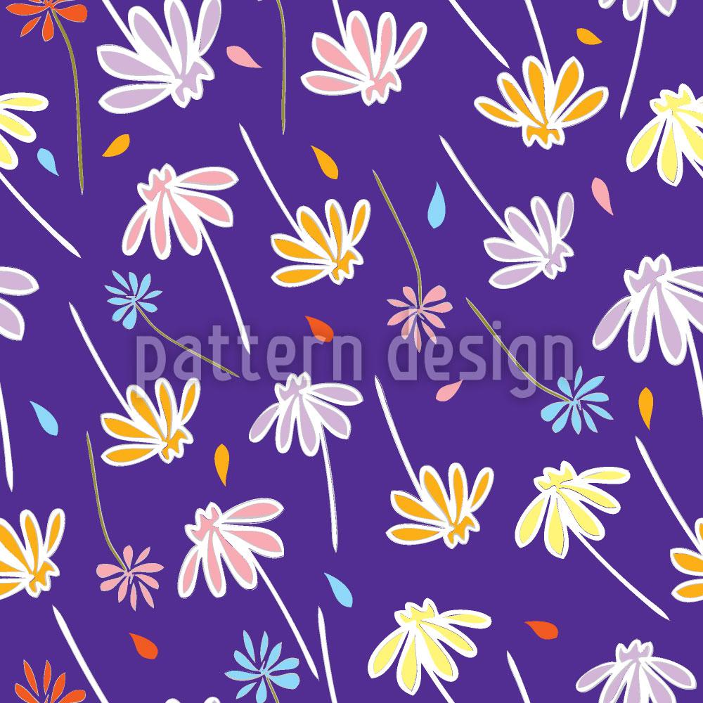 Designtapete Blumen Im Wind