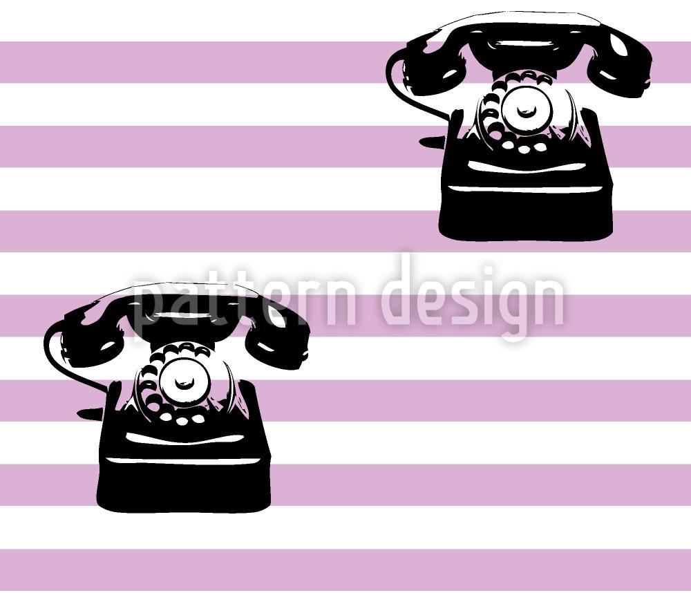 Designtapete Telefon