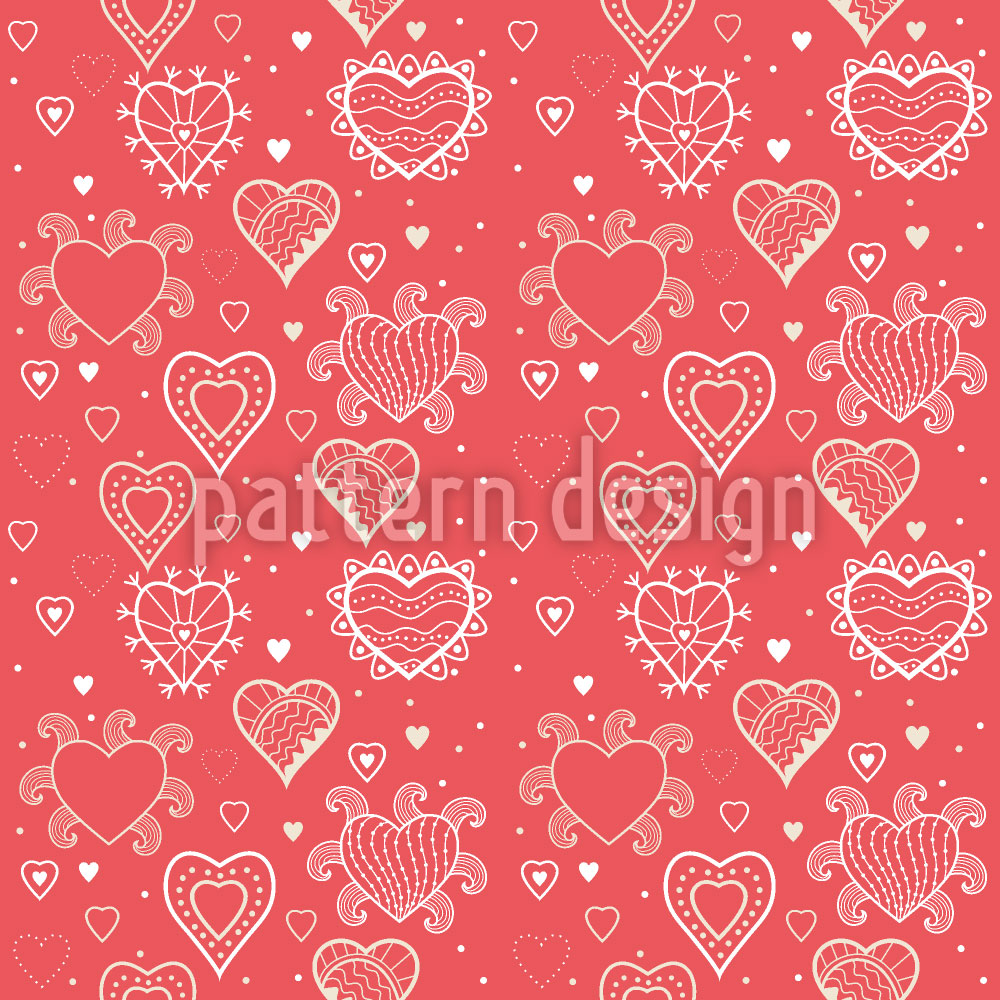 Designtapete Romantik Mit Herz
