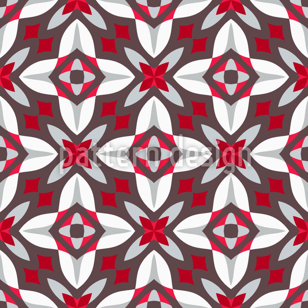 Designtapete Die Blumen Der Geometrie