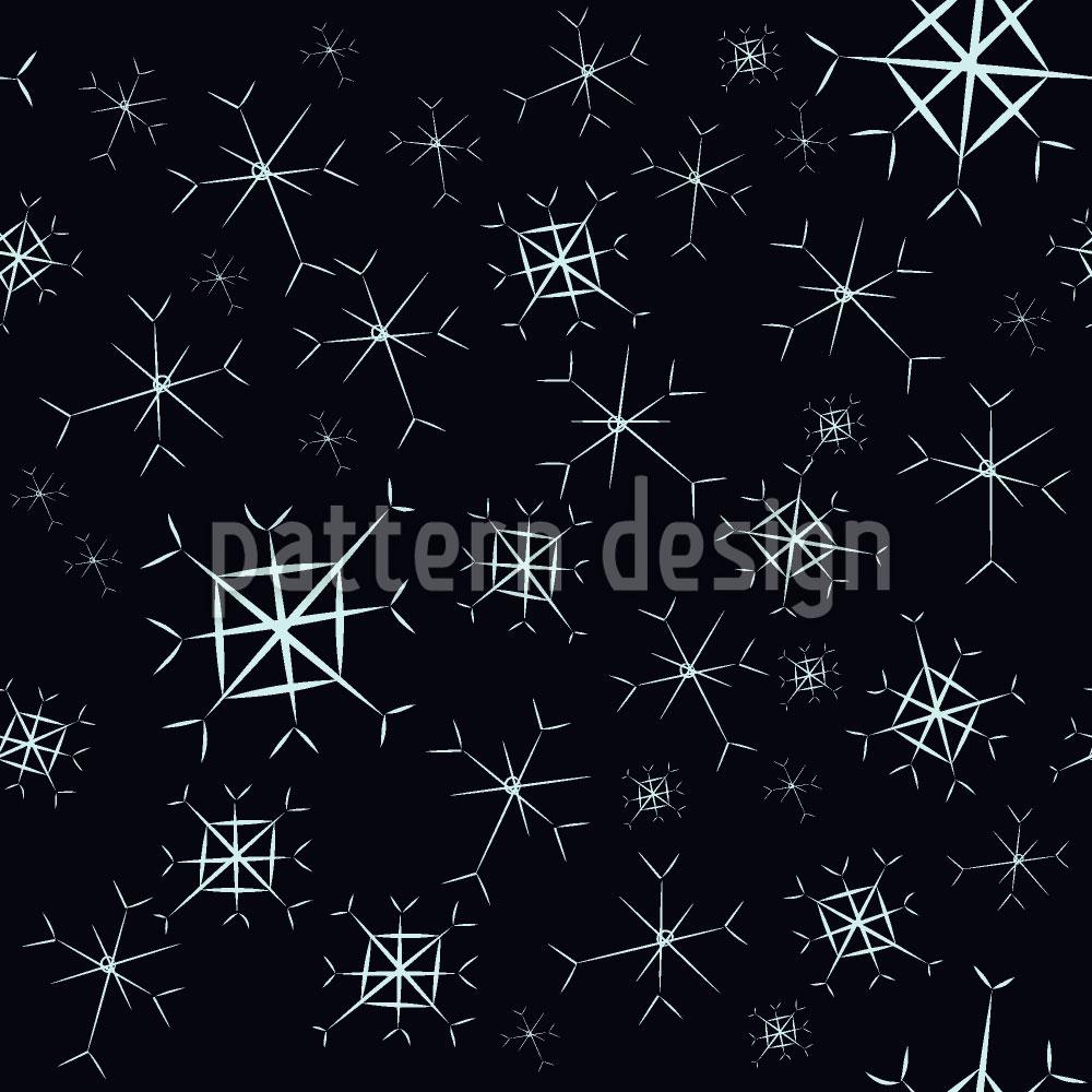 Designtapete Glitzernde Schneeflocken