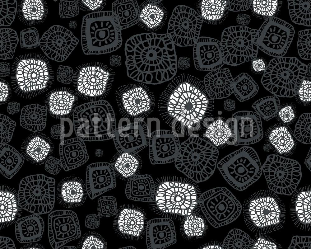 Designtapete Figuren Unter Dem Mikroskop