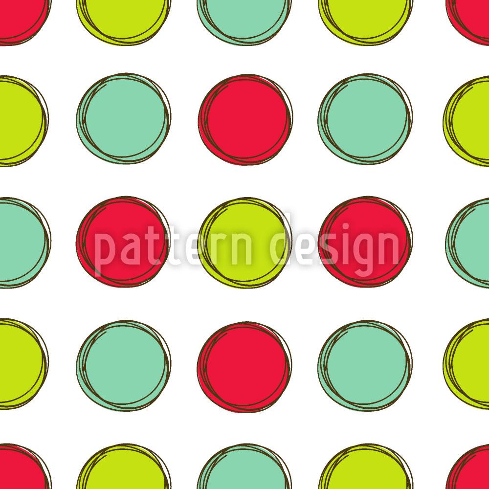 Designtapete Spielbrett Mit Kreisen