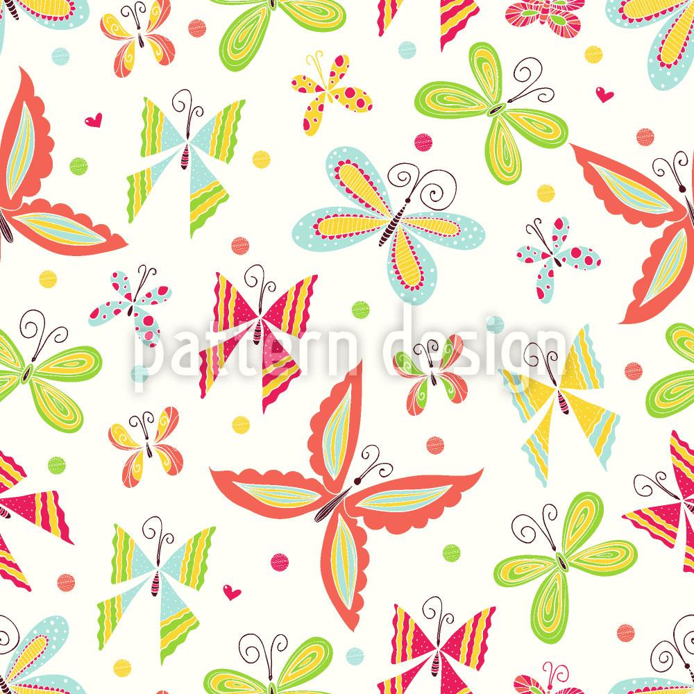 Designtapete Patchwork Schmetterlinge