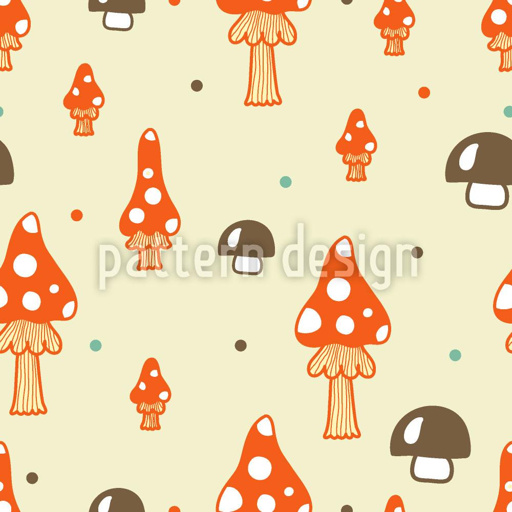 Designtapete Die Pilze Stehen Im Walde