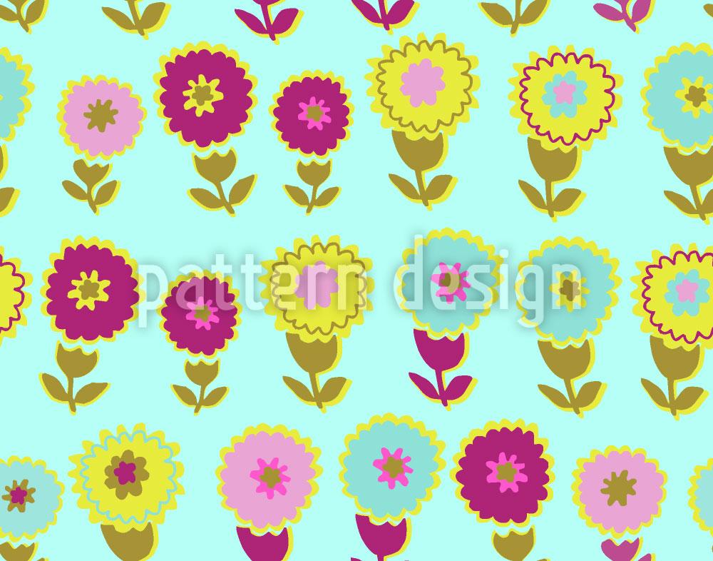 Designtapete Blume Und Wasser