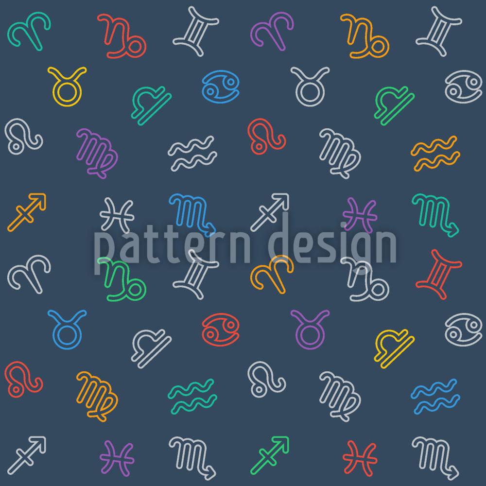 Designtapete Sternzeichen Mix