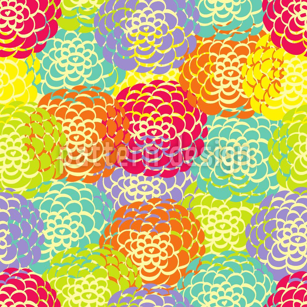 Designtapete Aster Blüte