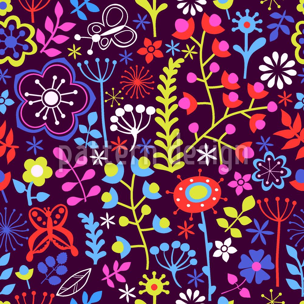 Designtapete Sommerblumen Magie