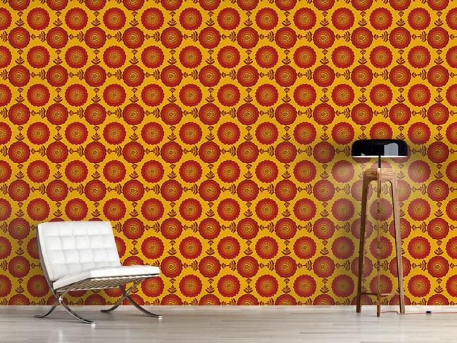 Designtapete Marigold Blumen