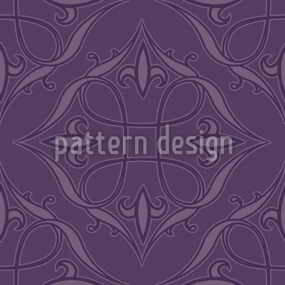 Designtapete Renaissance In Violett