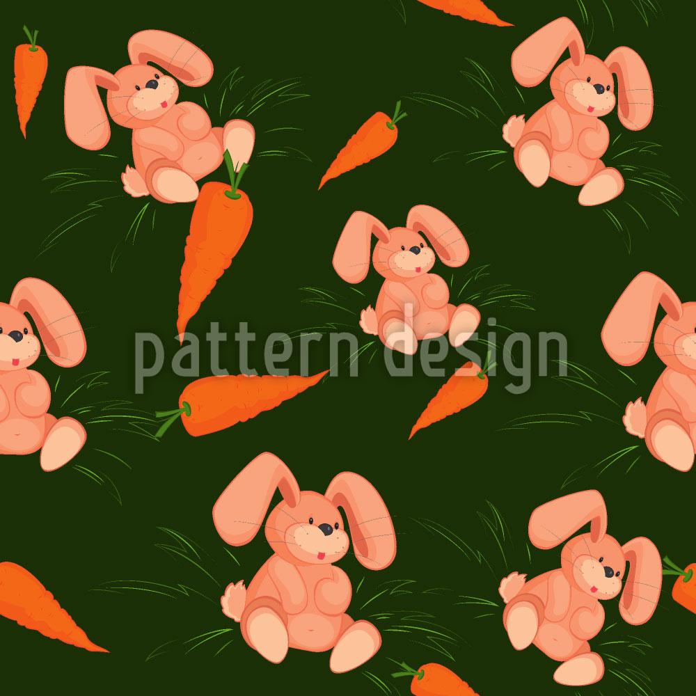 Designtapete Mein Häschen Liebt Karotten