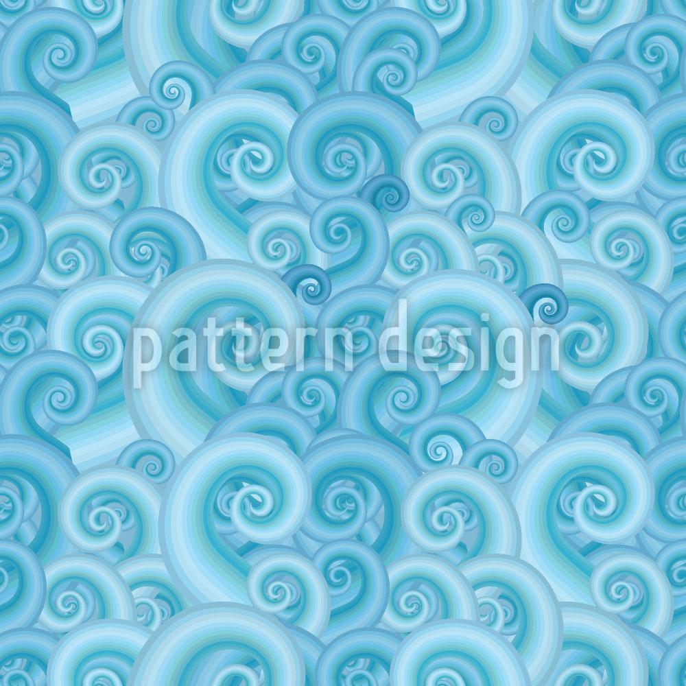 Designtapete Wellen Fantasie