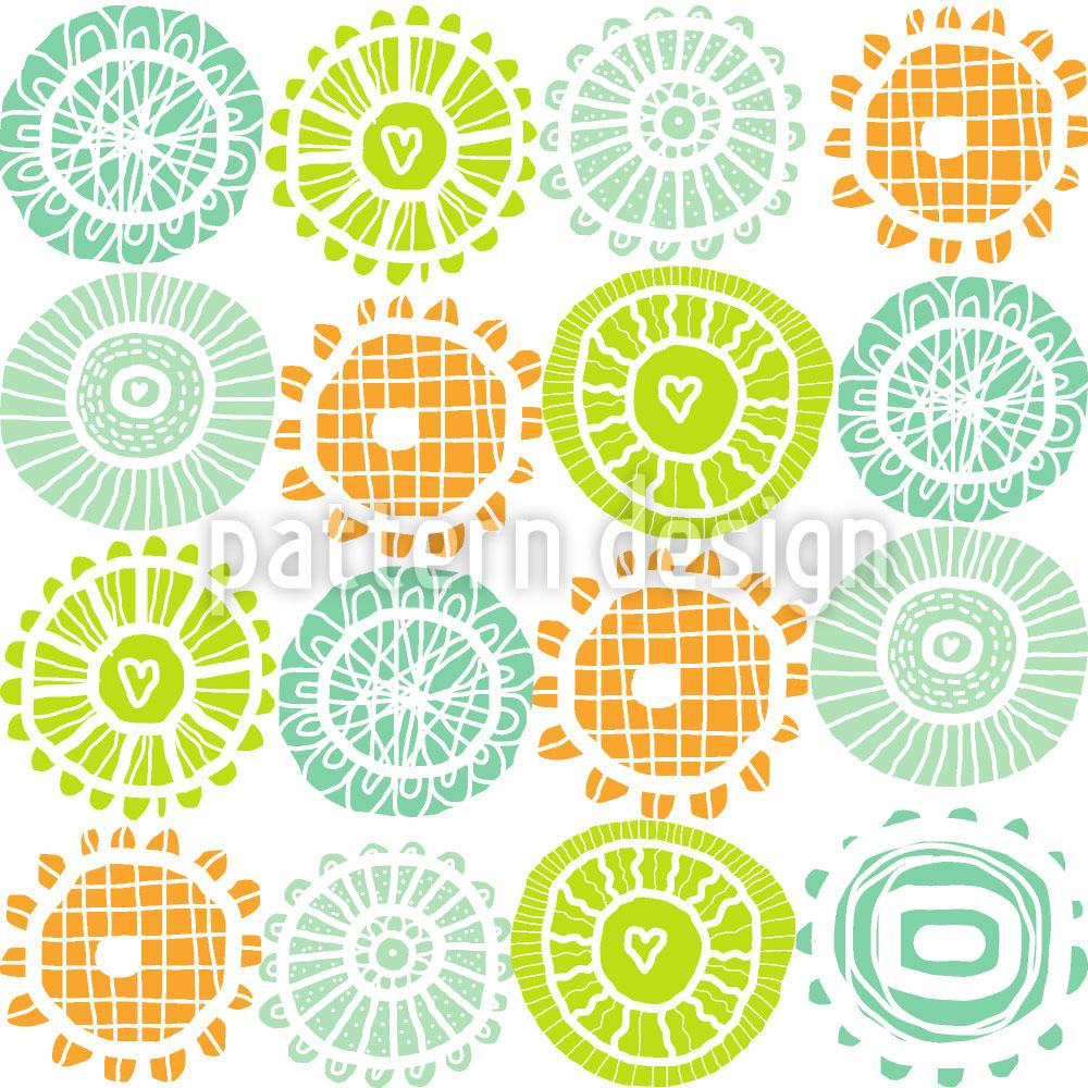 Designtapete Sonnenschein Deckchen