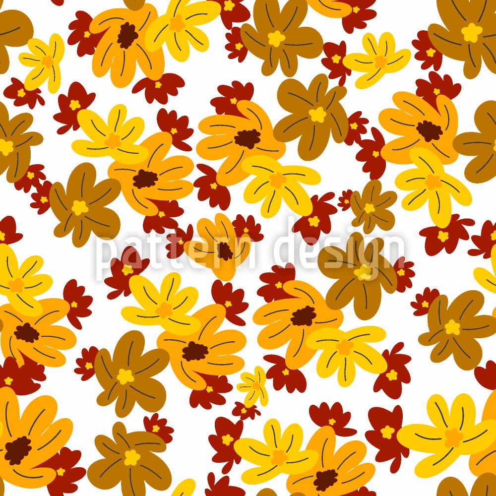 Designtapete Die Blumen Fallen