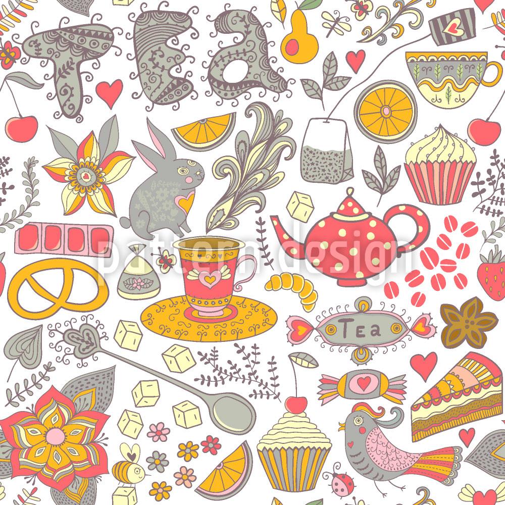 Designtapete Lustige Teeparty Im Wunderland