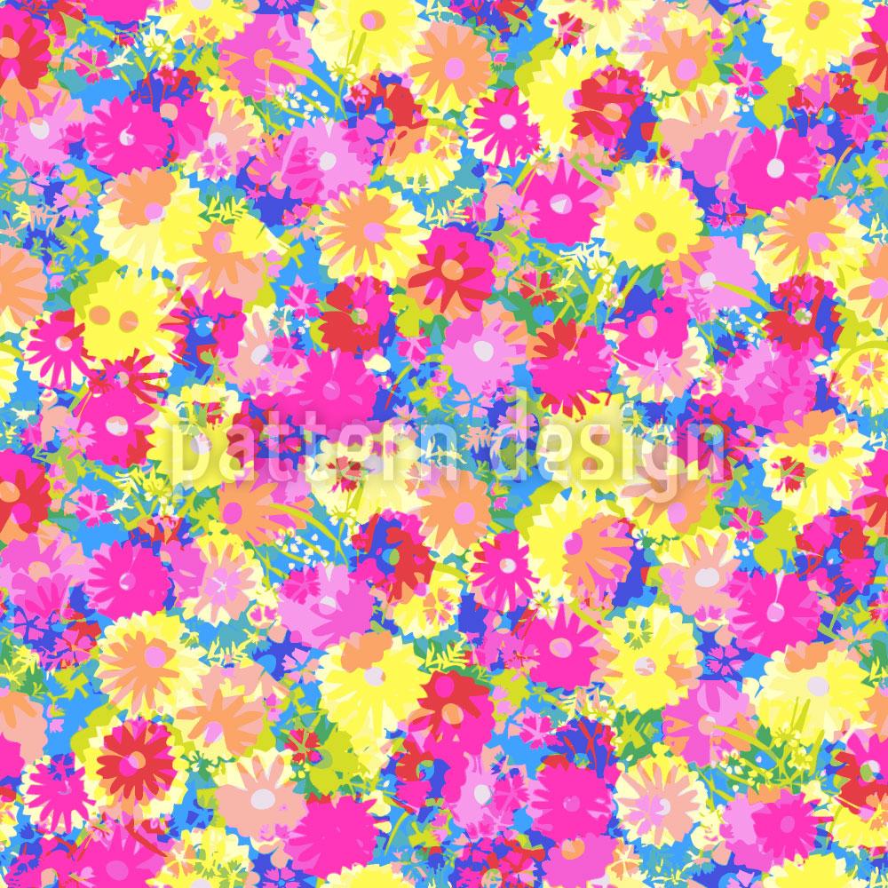 Designtapete Sommerblumen Wiese