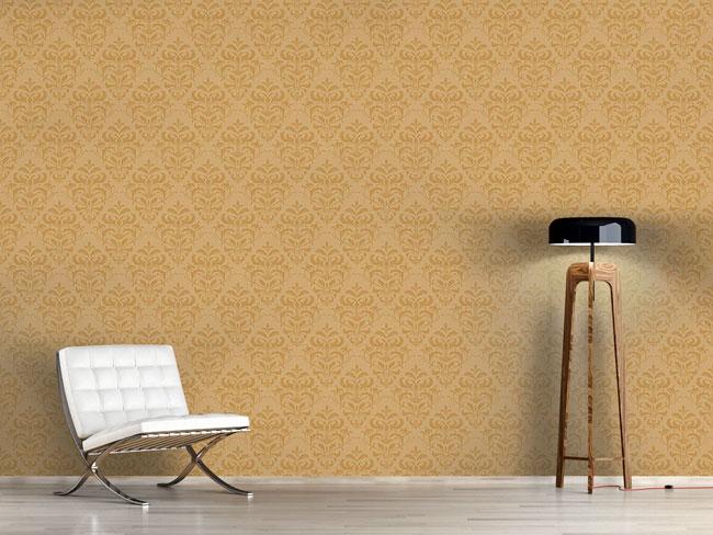 Designtapete Gold Barock