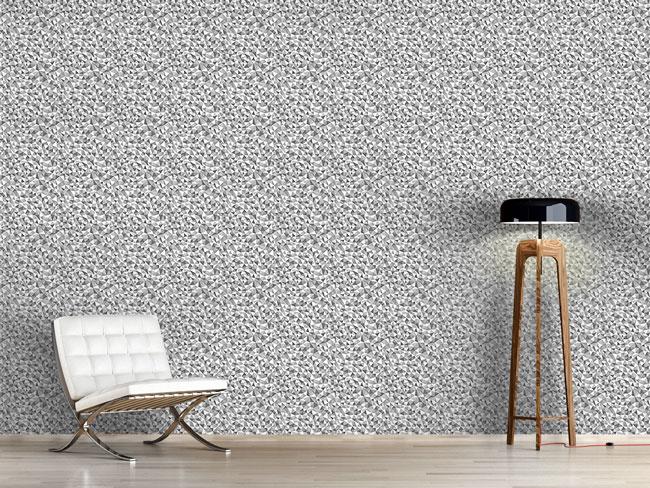 Designtapete Mosaik Monochrom