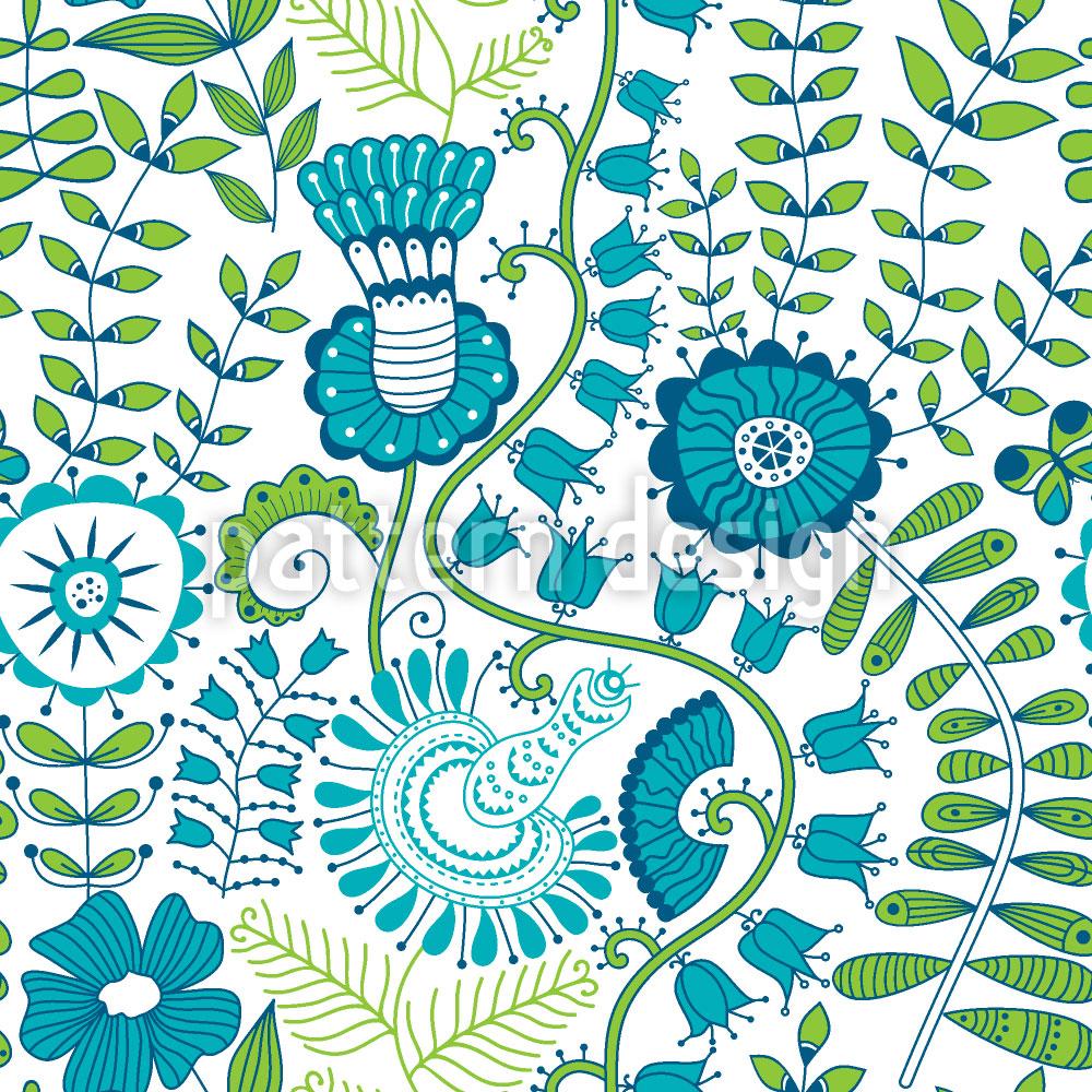 Designtapete Geheimnisse Im Frühlingsgarten