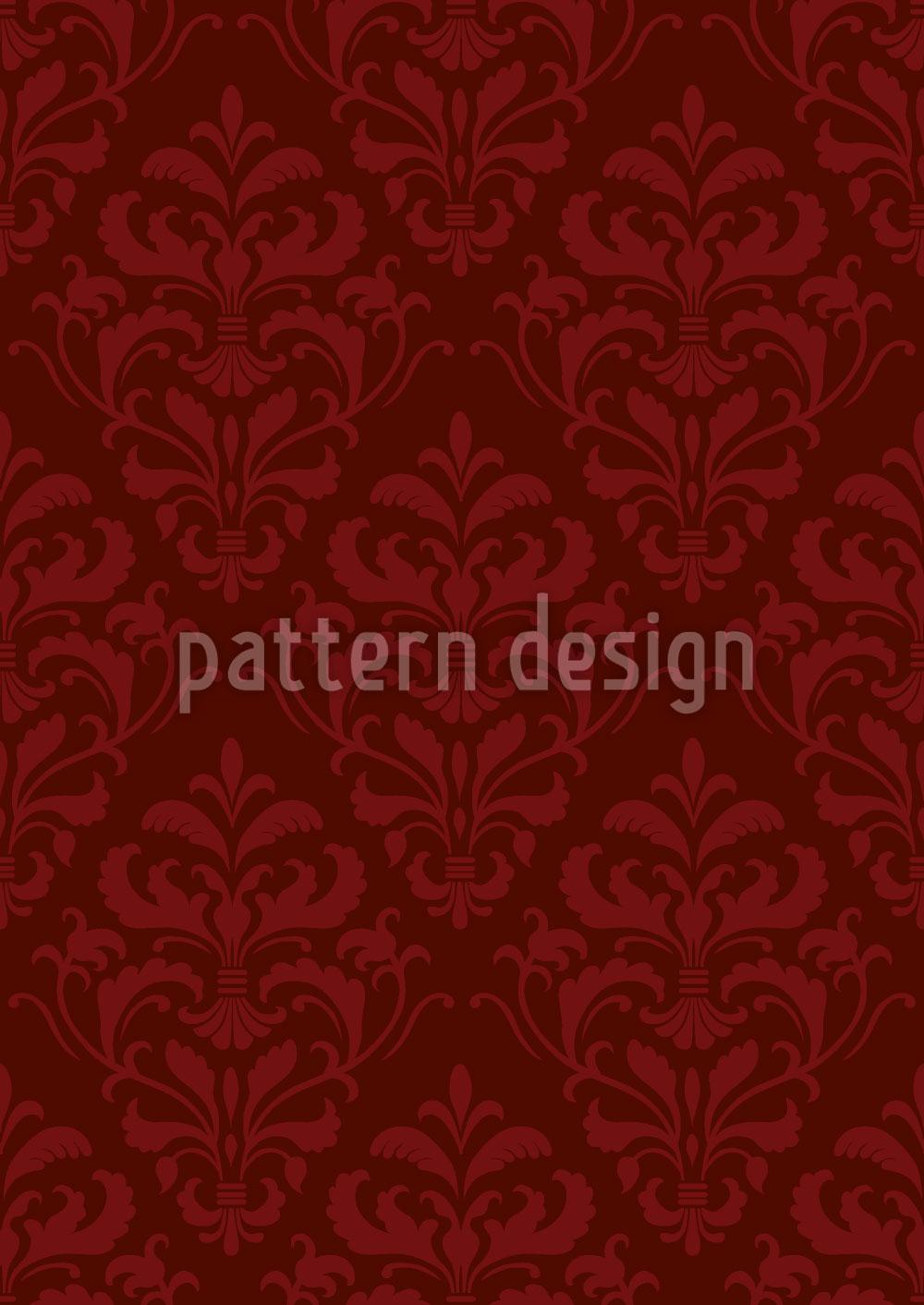 Designtapete Roter Französischer Barock