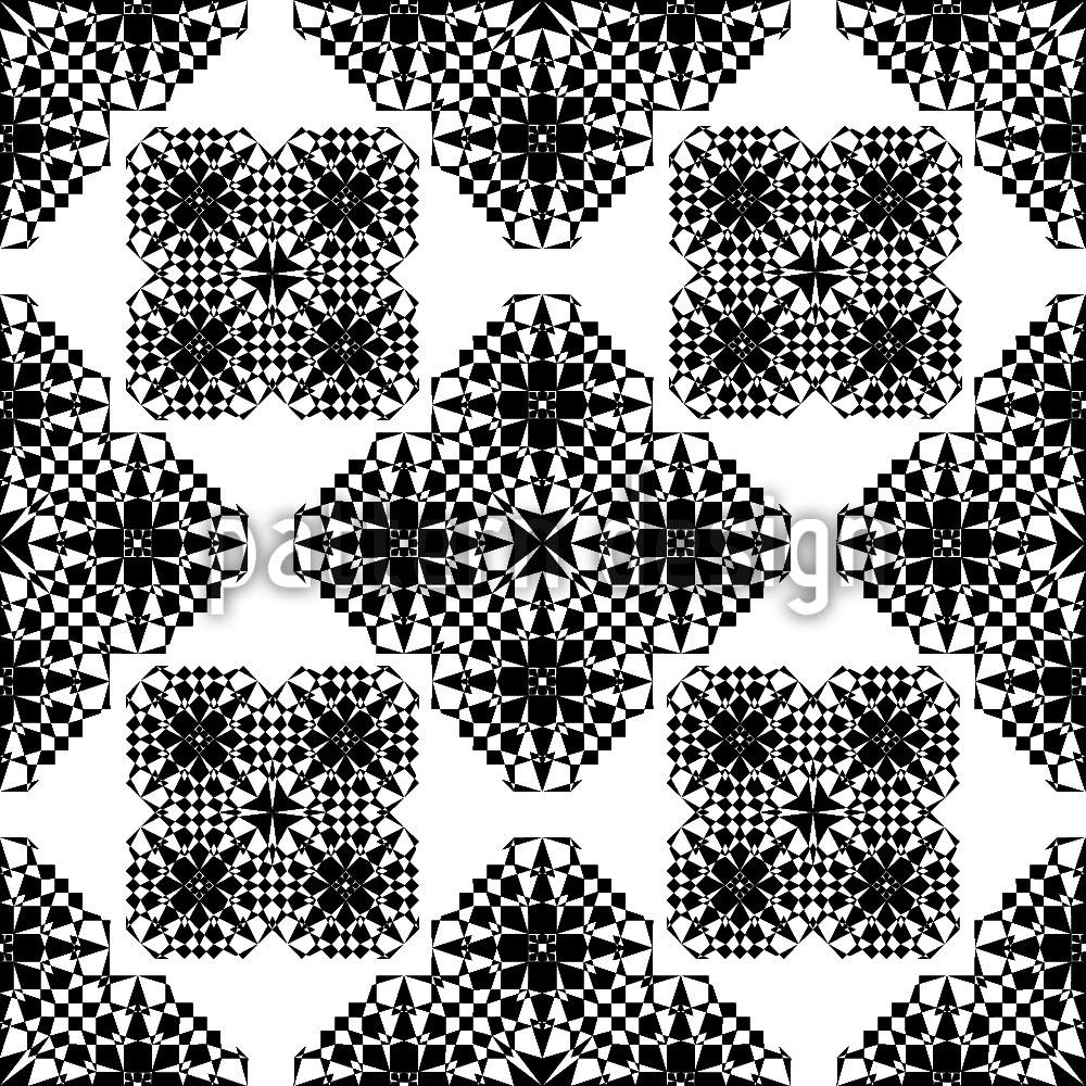 Designtapete Spitzen Geometrie
