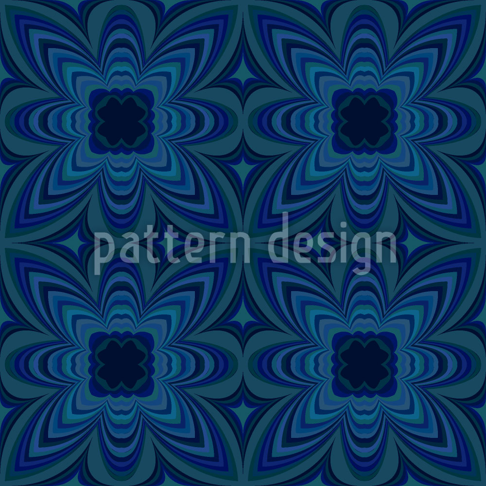 Designtapete Nachtblumen Kaleidoskop