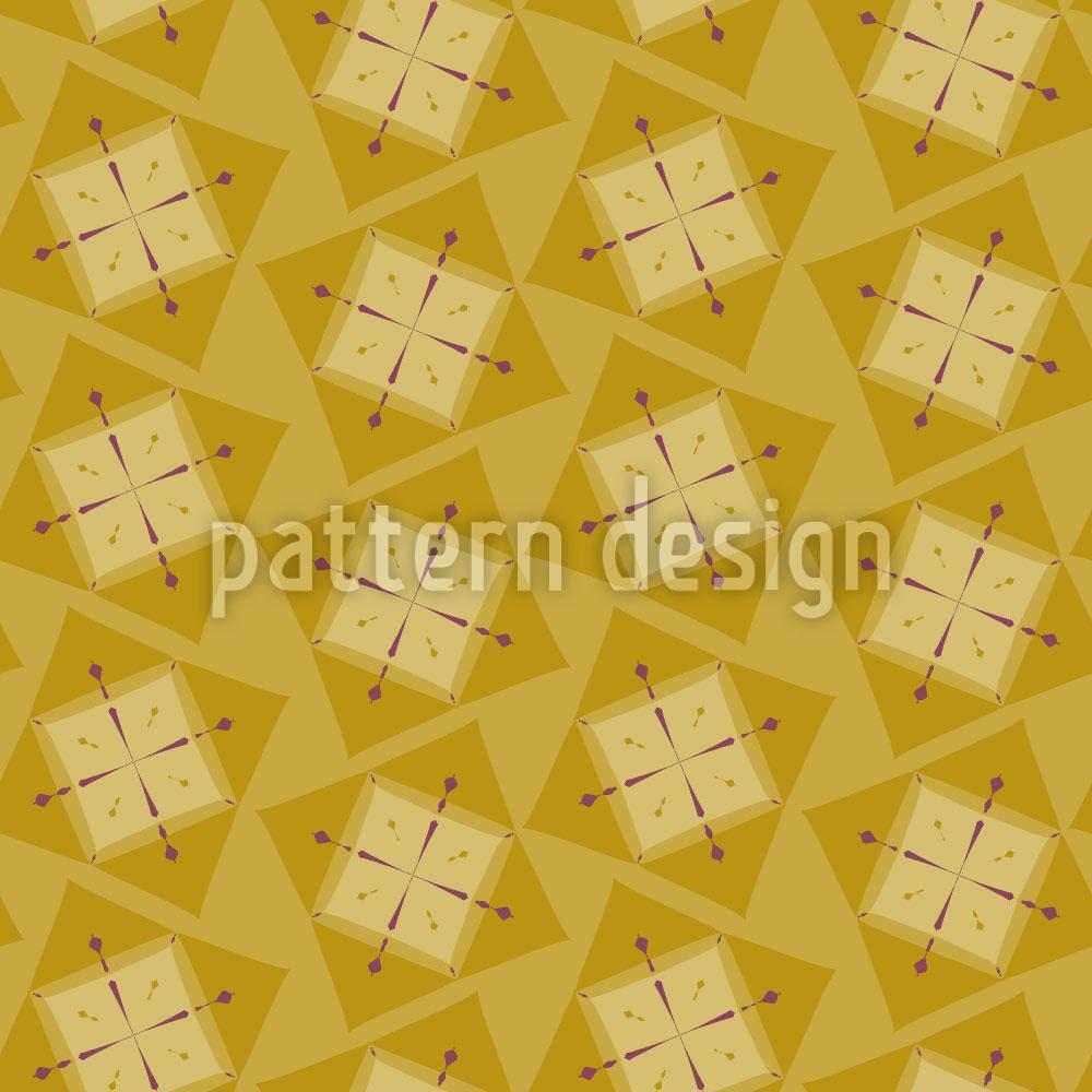 Designtapete Schottische Quadrate