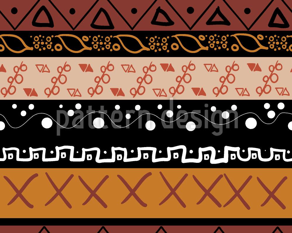 Designtapete Indianische Elemente