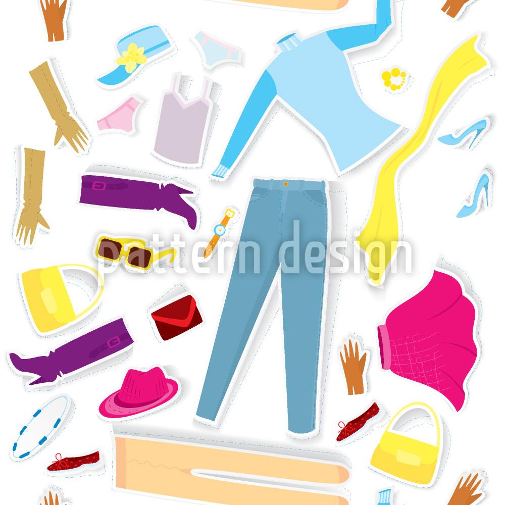 Designtapete Papier Mode