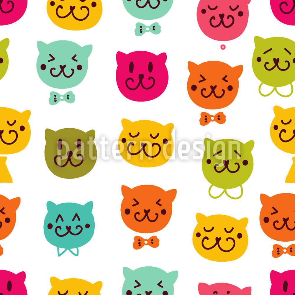 Designtapete Miau Miau