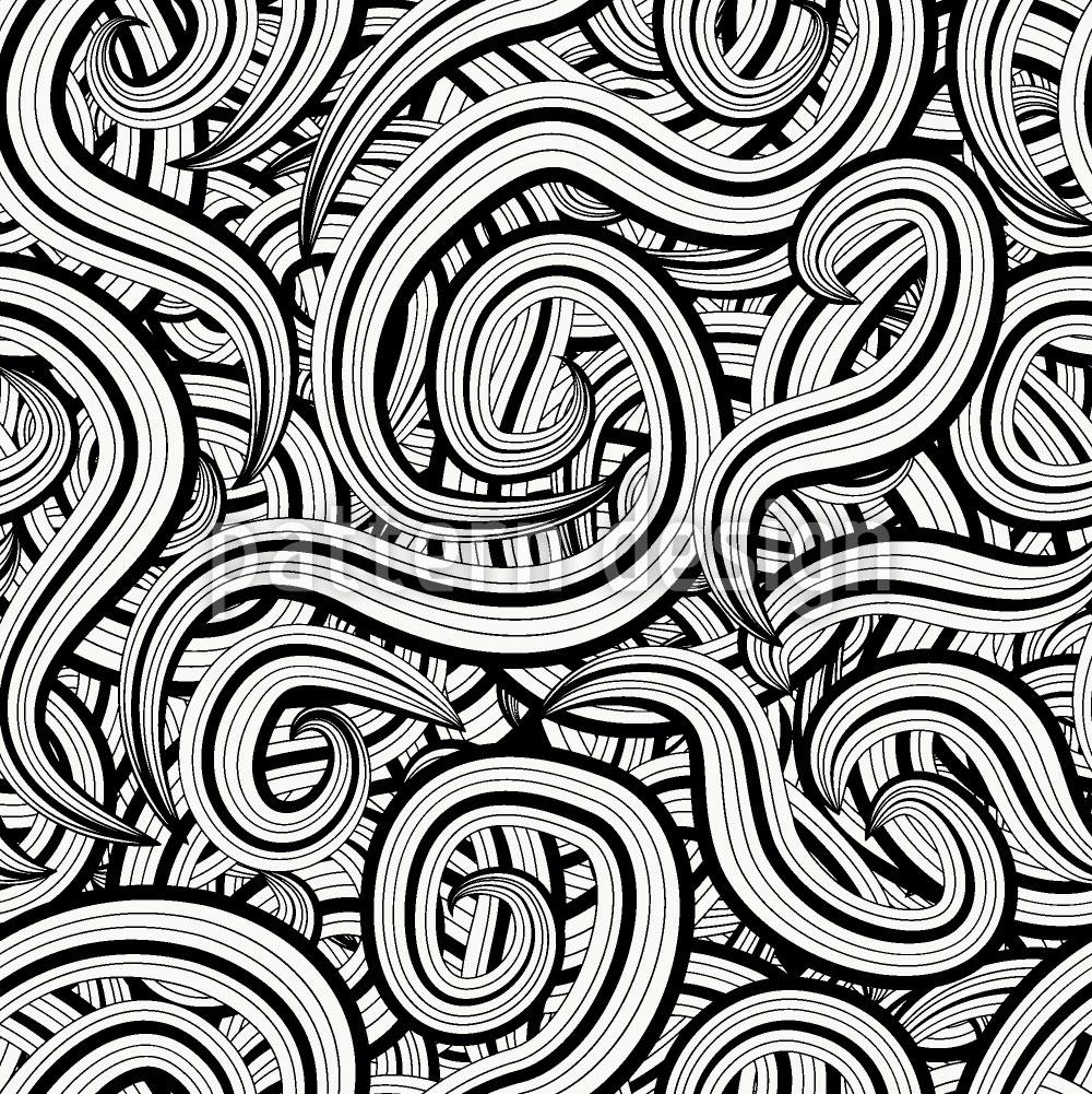 Designtapete Ein Schnörkel Chaos