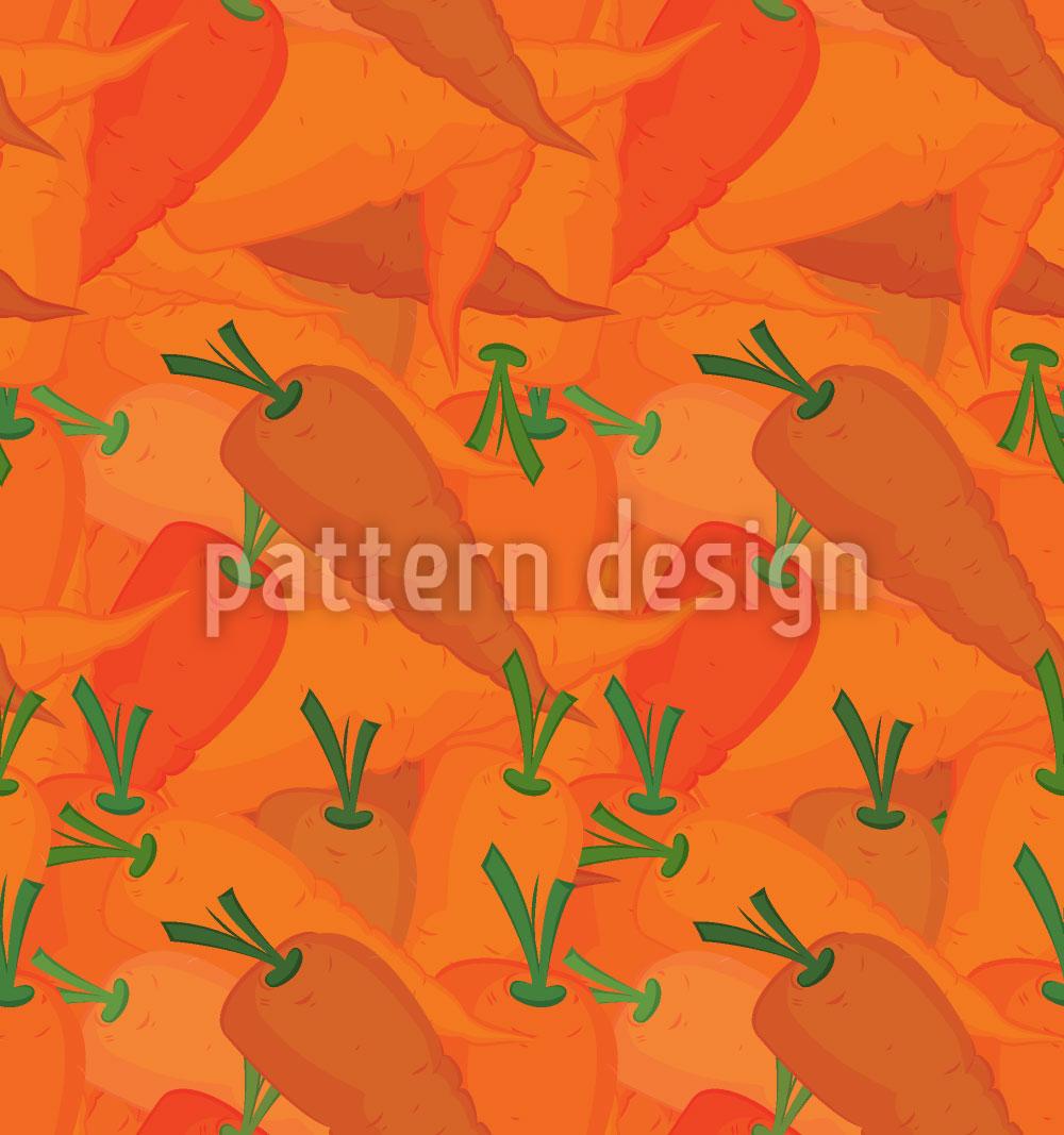 Designtapete Karotten Paradies