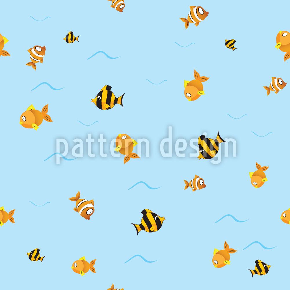 Designtapete Fisch Wege