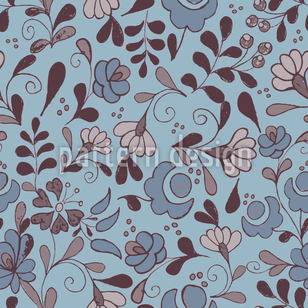 Designtapete Folklore Blumen Nostalgie