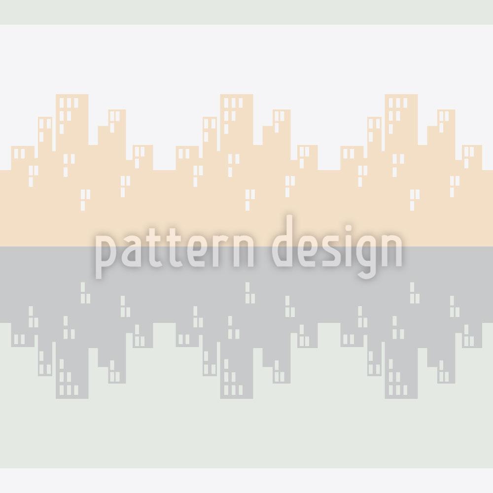 Designtapete Skyline Bordura