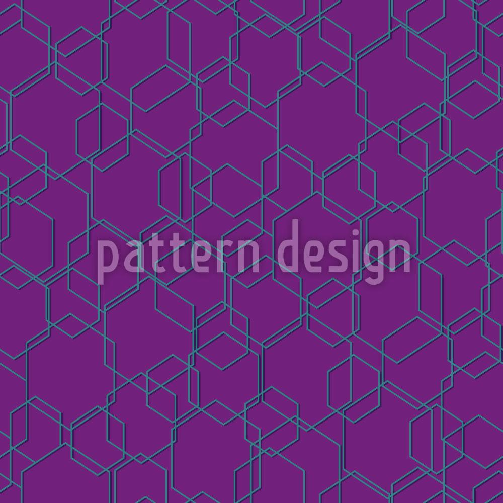 Designtapete Hexagon Wahnsinn