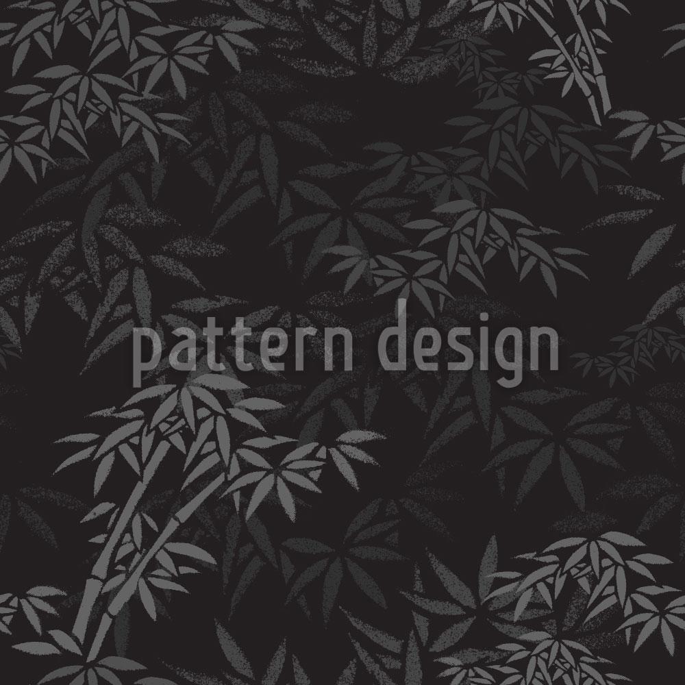 Designtapete Nachts Im Bambus Wald