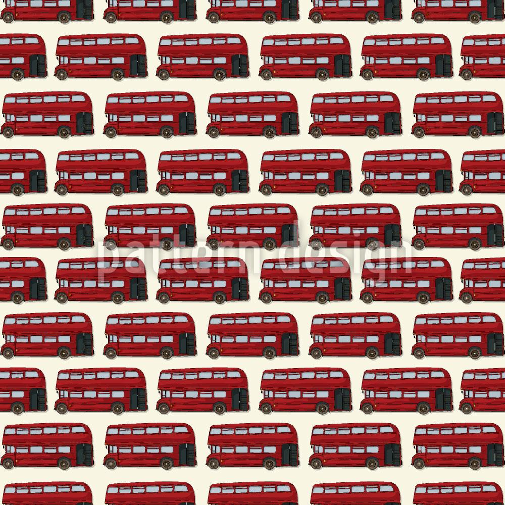 Designtapete Doppeldecker Bus