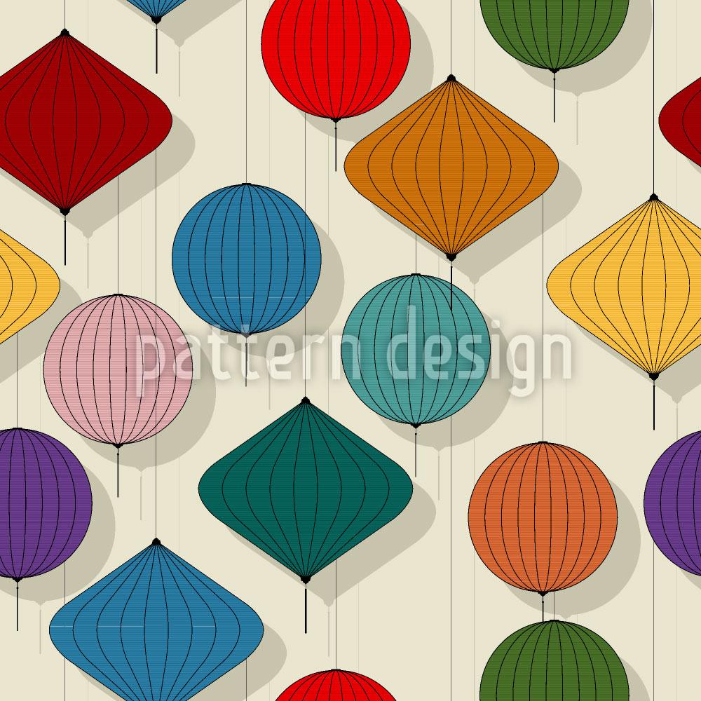 Designtapete Chinesische Laternen
